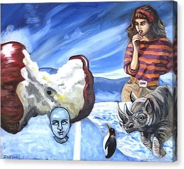 Arctic Soiree Canvas Print by John Ashton Golden