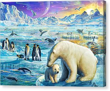 Arctic Sundown Canvas Print by Adrian Chesterman