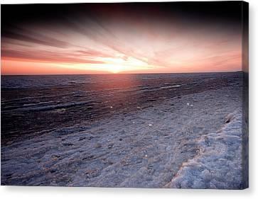 Arctic Sunrise Over The Beaufort Sea Canvas Print