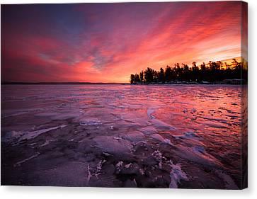 Arctic Sunrise Canvas Print by Robert Clifford