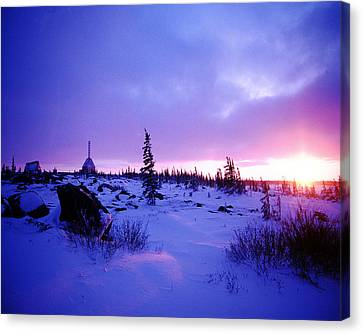 Arctic Sunset In Churchill Canada Canvas Print