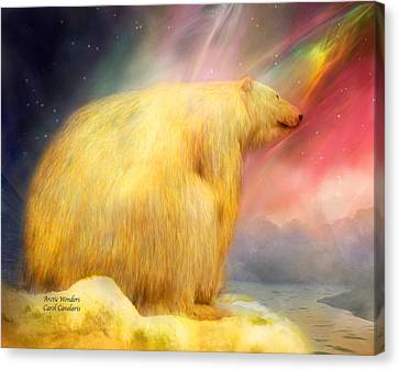 Arctic Wonders Canvas Print by Carol Cavalaris