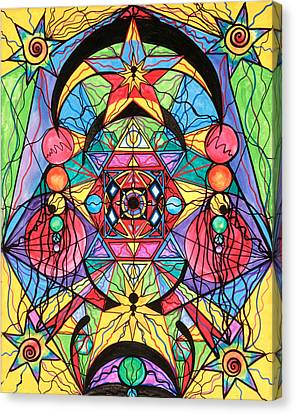 Arcturian Ascension Grid Canvas Print by Teal Eye  Print Store