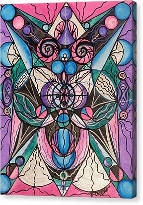 Sacred Canvas Print - Arcturian Healing Lattice  by Teal Eye  Print Store