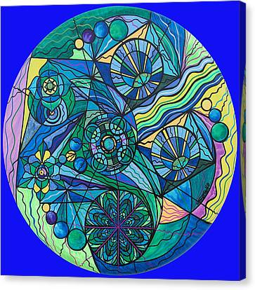 Arcturian Immunity Grid Canvas Print by Teal Eye  Print Store
