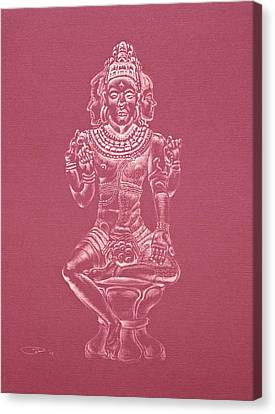 Canvas Print featuring the drawing Ardhanarishvara II by Michele Myers