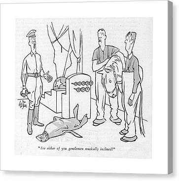 Are Either Of You Gentlemen Musically Inclined? Canvas Print by George Price