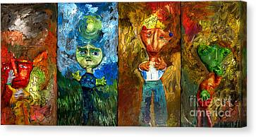 Are We Alone A Set Canvas Print by Charlie Spear