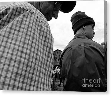 Are We Blocking Your View ? Canvas Print by Tina M Wenger