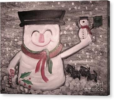 Are You Santa Canvas Print by Rachel Carmichael