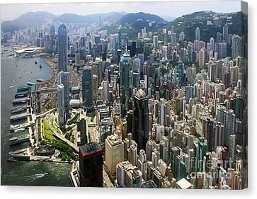 Areal View Over Hong Kong Canvas Print