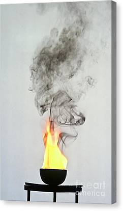 Arene Combustion Canvas Print by Martyn F. Chillmaid