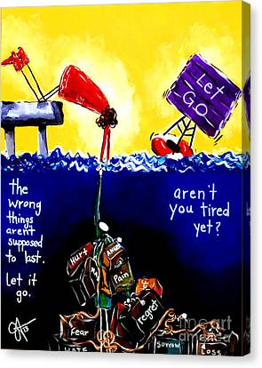 Aren't You Tired Yet? Canvas Print by Jackie Carpenter