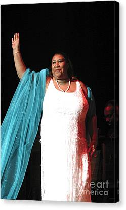 Queen Canvas Print - Aretha Franklin by Concert Photos