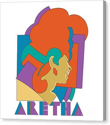 Aretha Franklin No.04 Canvas Print