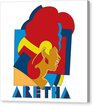 Aretha Franklin No.05 Canvas Print by Caio Caldas