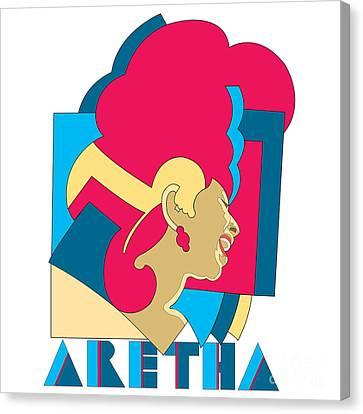 Aretha Franklin No.06 Canvas Print