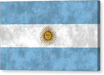 Argentina Flag Canvas Print by World Art Prints And Designs