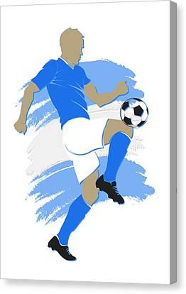 Argentina Soccer Player Canvas Print