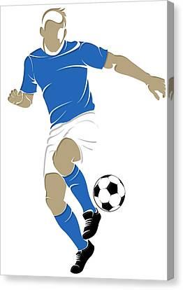 Argentina Soccer Player1 Canvas Print by Joe Hamilton
