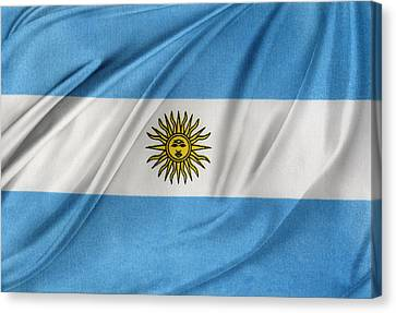 Argentinian Flag Canvas Print by Les Cunliffe