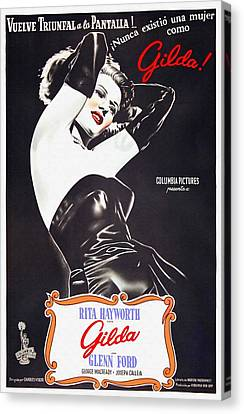 Argentinian Poster Of Gilda Canvas Print by Art Cinema Gallery