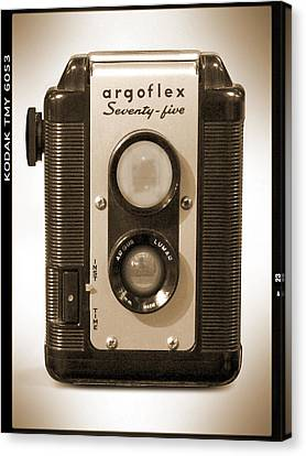 Classic Camera Canvas Print - Argoflex 75 by Mike McGlothlen