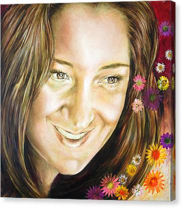 Ariana's Portrait Canvas Print by Karina Llergo