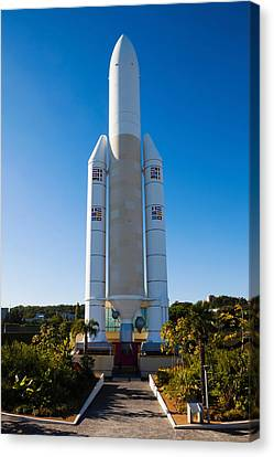 Ariane 5 French Space Rocket At Cite De Canvas Print