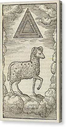 Aries And Triangulum Canvas Print by Middle Temple Library