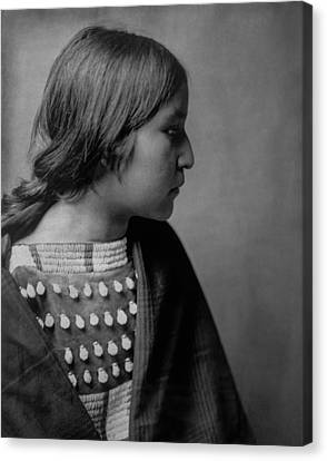 Indigenous Canvas Print - Arikara Girl Circa 1903 by Aged Pixel