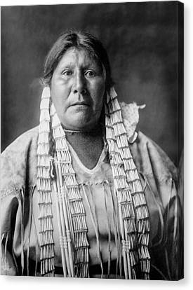 Indigenous Canvas Print - Arikara Woman Circa 1908 by Aged Pixel