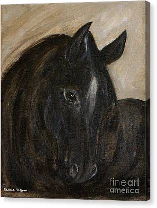 Canvas Print featuring the painting Arion by Barbie Batson