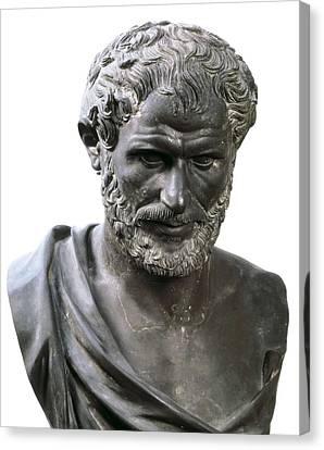 Aristotle 384-332 Bc. Roman Art Canvas Print by Everett