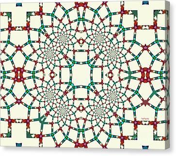 Arithmetical Lace  Canvas Print by Tatjana Popovska