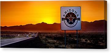 Arizona Centennial Canvas Print by Az Jackson
