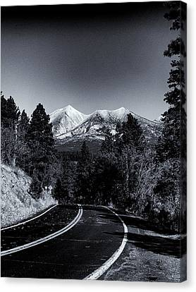 Arizona Country Road In Black And White Canvas Print by Joshua House