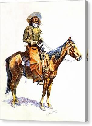Arizona Cowboy Canvas Print by Frederic Remington