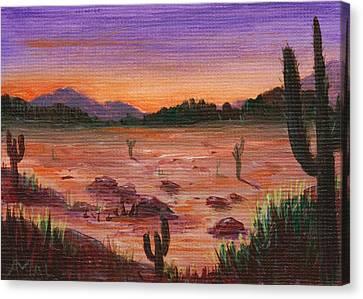 Arizona Desert Canvas Print by Anastasiya Malakhova