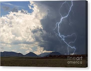 Arizona Desert Lightning  Canvas Print