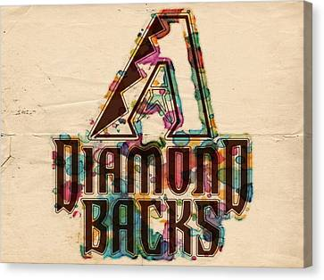 Diamondbacks Canvas Print - Arizona Diamondbacks Poster Vintage by Florian Rodarte