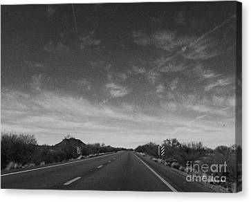 Arizona Highway 70 West Canvas Print by Methune Hively