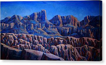 Arizona Landscape At Sunset Canvas Print by Dan Terry