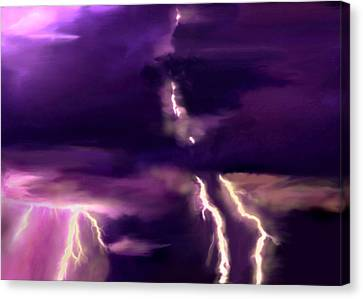 Arizona Monsoon Season Lightning Canvas Print