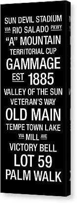 Arizona State College Town Wall Art Canvas Print