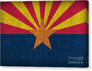 Arizona State Flag Canvas Print by Pixel Chimp