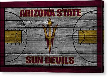 Benches Canvas Print - Arizona State Sun Devils by Joe Hamilton