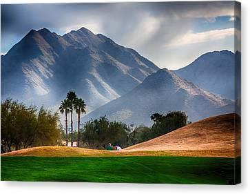 Arizona Sunrise Golfing Canvas Print by Fred Larson