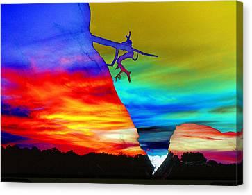 Arizona Sunset Collage Canvas Print