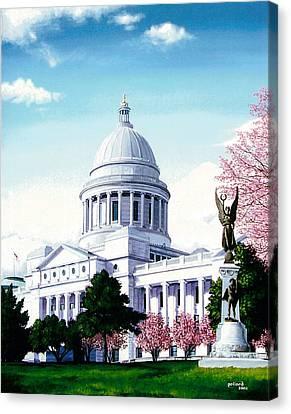 Arkansas Capitol Blossoms Canvas Print